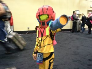 """It's my SAMUS suit!"" - 8 year old girl"