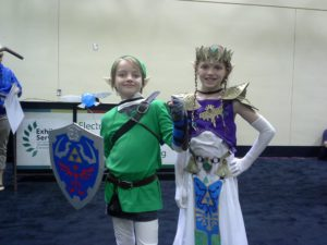 Two sisters rocking Zelda